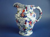 Maling 'Blue Chintz' Ringtons Medium Jug c1935